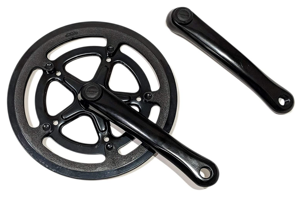 Lasco 52T forged crank set, chain guard fits ebikes, folding bicycles - black