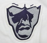 Varsity Big Face Short Sleeve Sweatsuit : White, Grey, & Navy