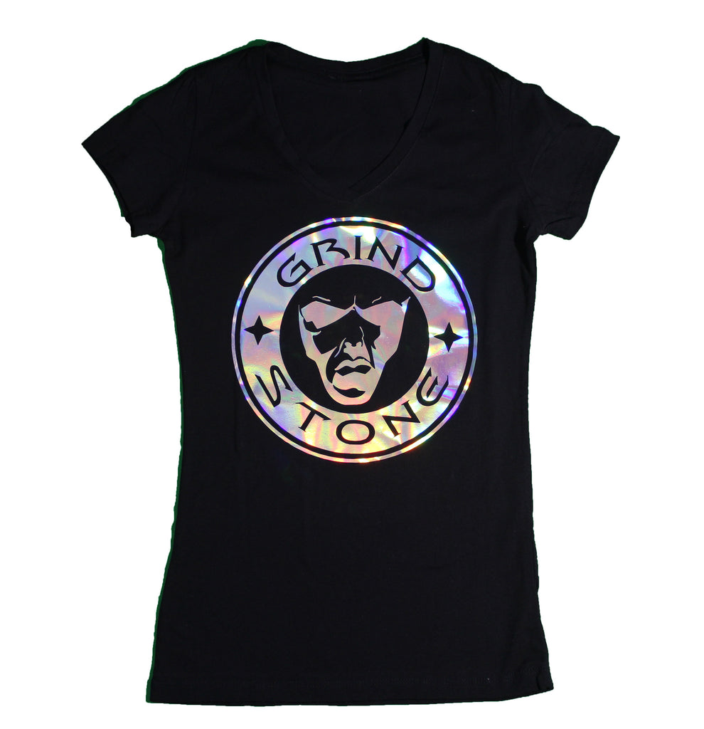 Holographic Logo : Women's V- Neck Tee