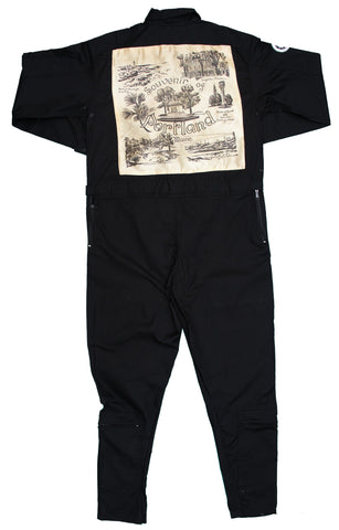 Black Flight suit- colorful Hawaii