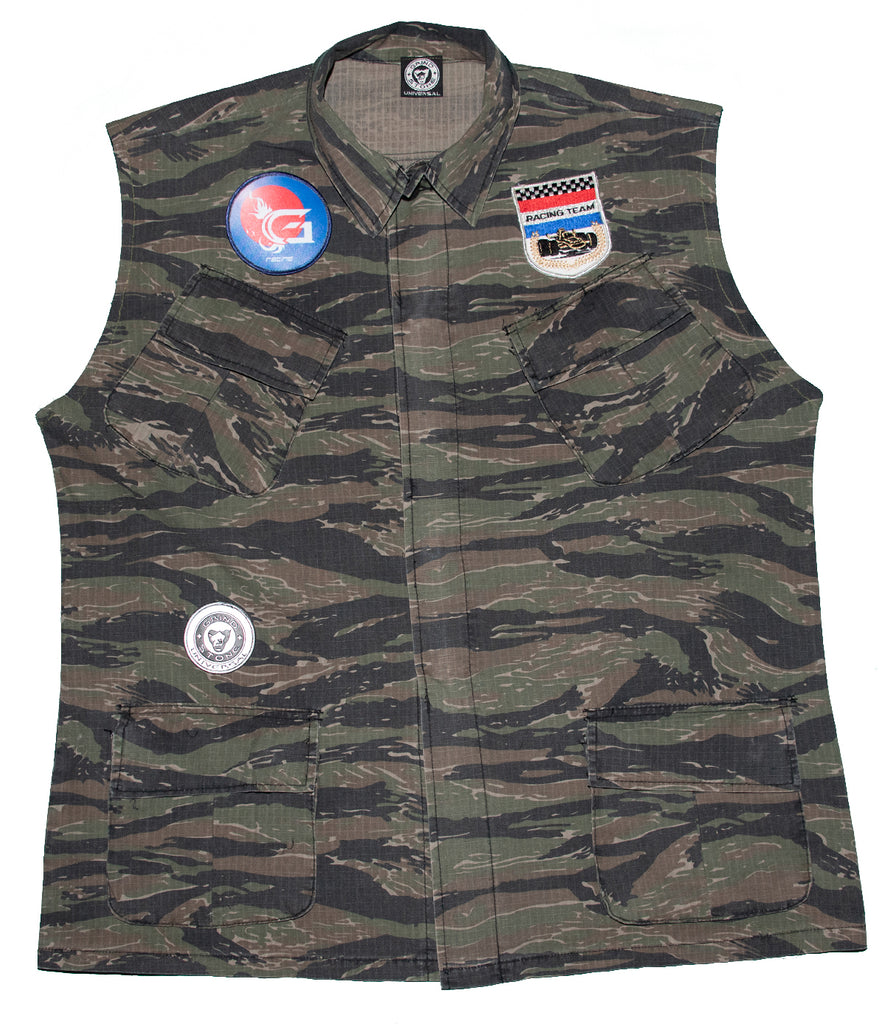 Camo Army vest- Fort Dix