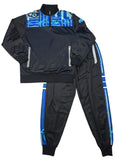Blue Infinity Men's Sweatsuit Jacket