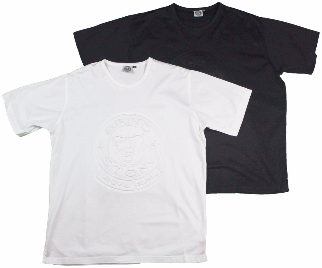 Embossed Logo Men's T-Shirt : White