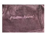 Ladies' Bordeaux Velour Crop Hoodie