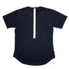 Navy embroidered reflective logo-T