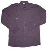 Men's Long Sleeve Button Down : Black, Brown, Purple