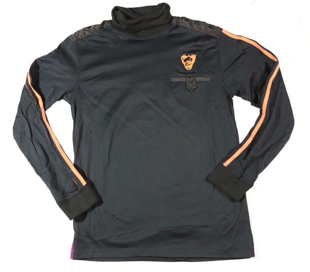 Men's Turtleneck Jersey : Black & Orange