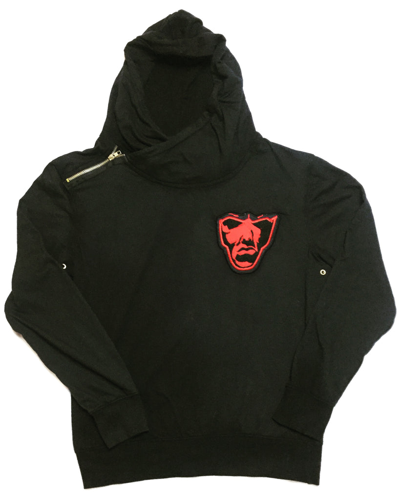 Varsity Big Face Men's Sweatsuit : Black & Red