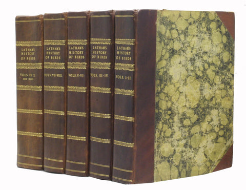 A General History of Birds, 11 volumes, complete with index, bound in 5 thick volumes