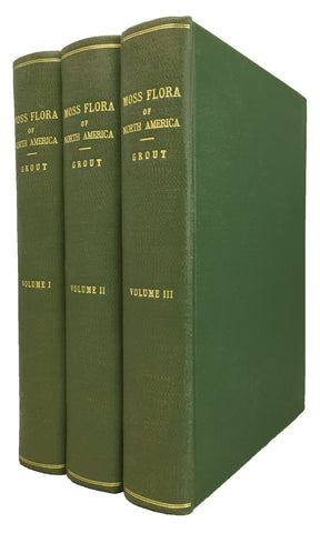 Moss Flora of North America north of Mexico, in 12 parts bound in three volumes, complete