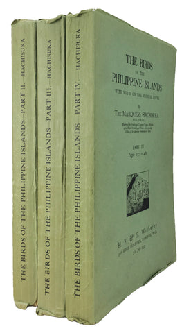 The Birds of the Philippine Islands, with Notes on the Mammal Fauna, Parts II-IV (of four parts)