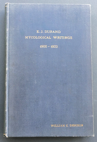 Durand's Mycological Writings, 1900-1922