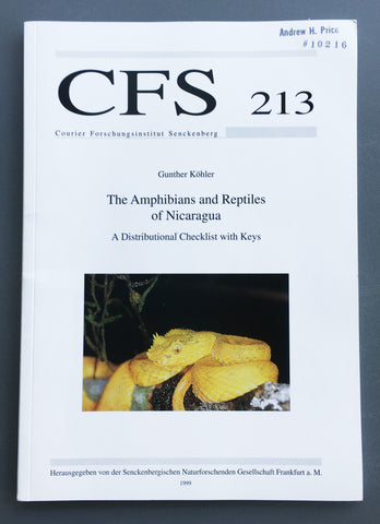 The Amphibians and Reptiles of Nicaragua: A distributional checklist with keys