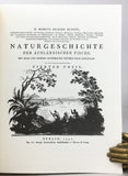 Allgemeine Naturgeschichte der Fische: I. Naturgeschichte der ausländischen Fische, 9 parts in 4 volumes (text) + II. Oeconomische Naturgeschichte der Fische Deutschlands, with 432 fine color plates in 2 volumes (plates)