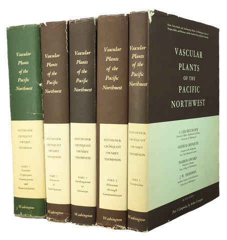 Vascular Plants of the Pacific Northwest, Parts 1-5, complete in 5 volumes with dust jackets