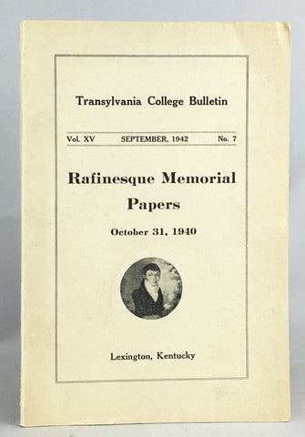 Rafinesque Memorial Papers, October 31, 1940