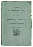 Catalogue of the Flora of Montana and the Yellowstone Natural Park