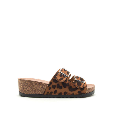 Ahana-02 Camel Leopard Double Band Slides