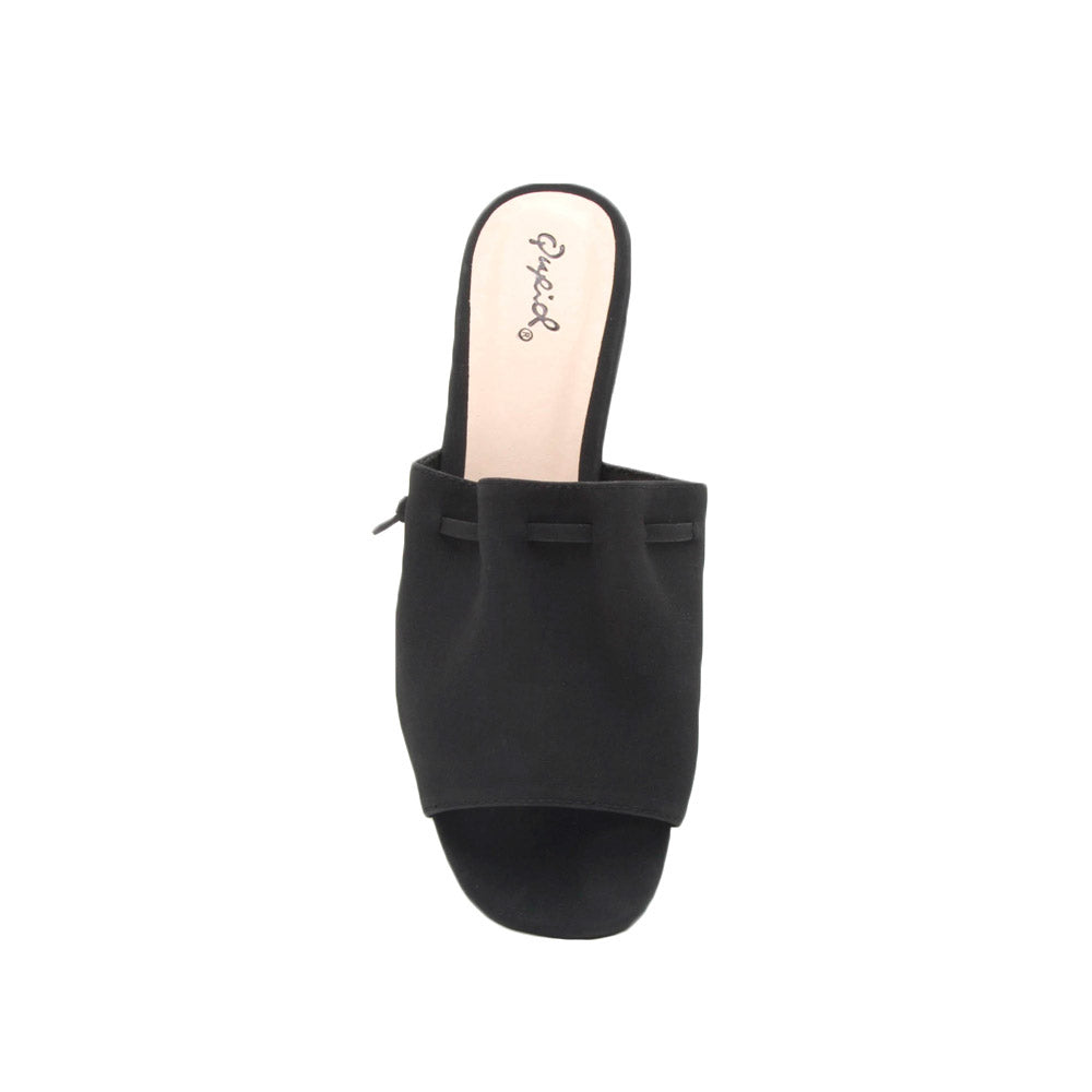 Ali-01X Black Slide In Sandals