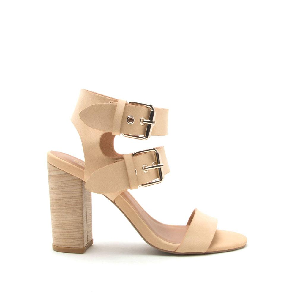 Alona-07 Tan Double Strap Sandal