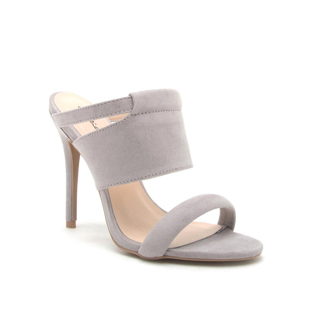 ARA-246 Light Grey Suede Slide In Sandal