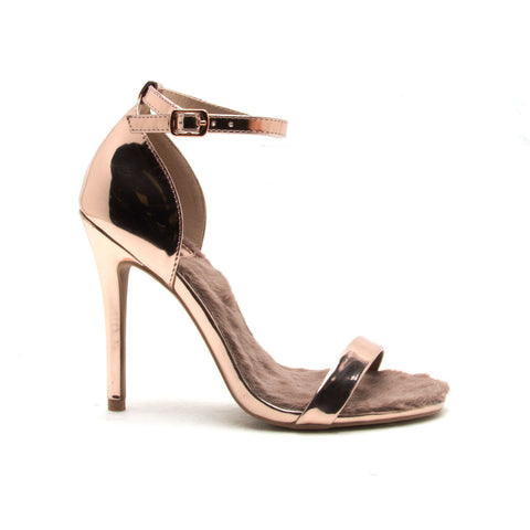 ARA-276 Rose Gold Fur One Band Sandal