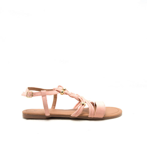ARCHER-338X Soft Blush Braided Band Sandal