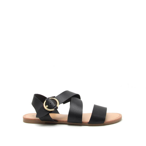 Archer-407 Black Strappy Sandals