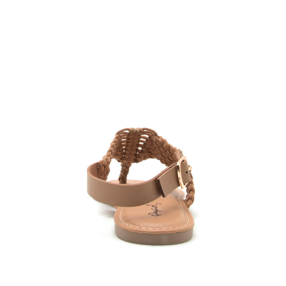 Archer-491 Taupe Braided Gladiator Sandal