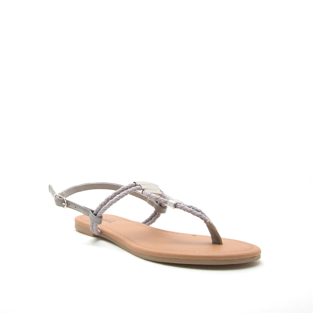 Archer-504 Grey Gladiator Sandal