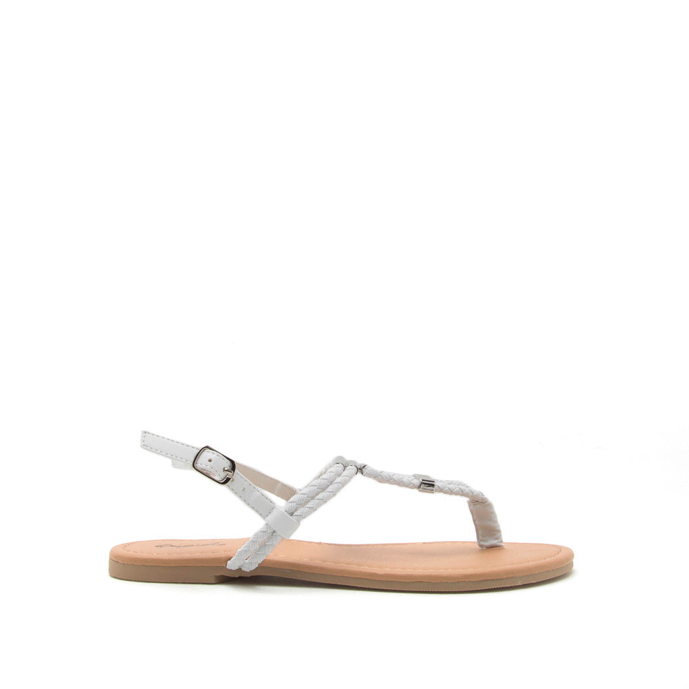 Archer-504 White Gladiator Sandal