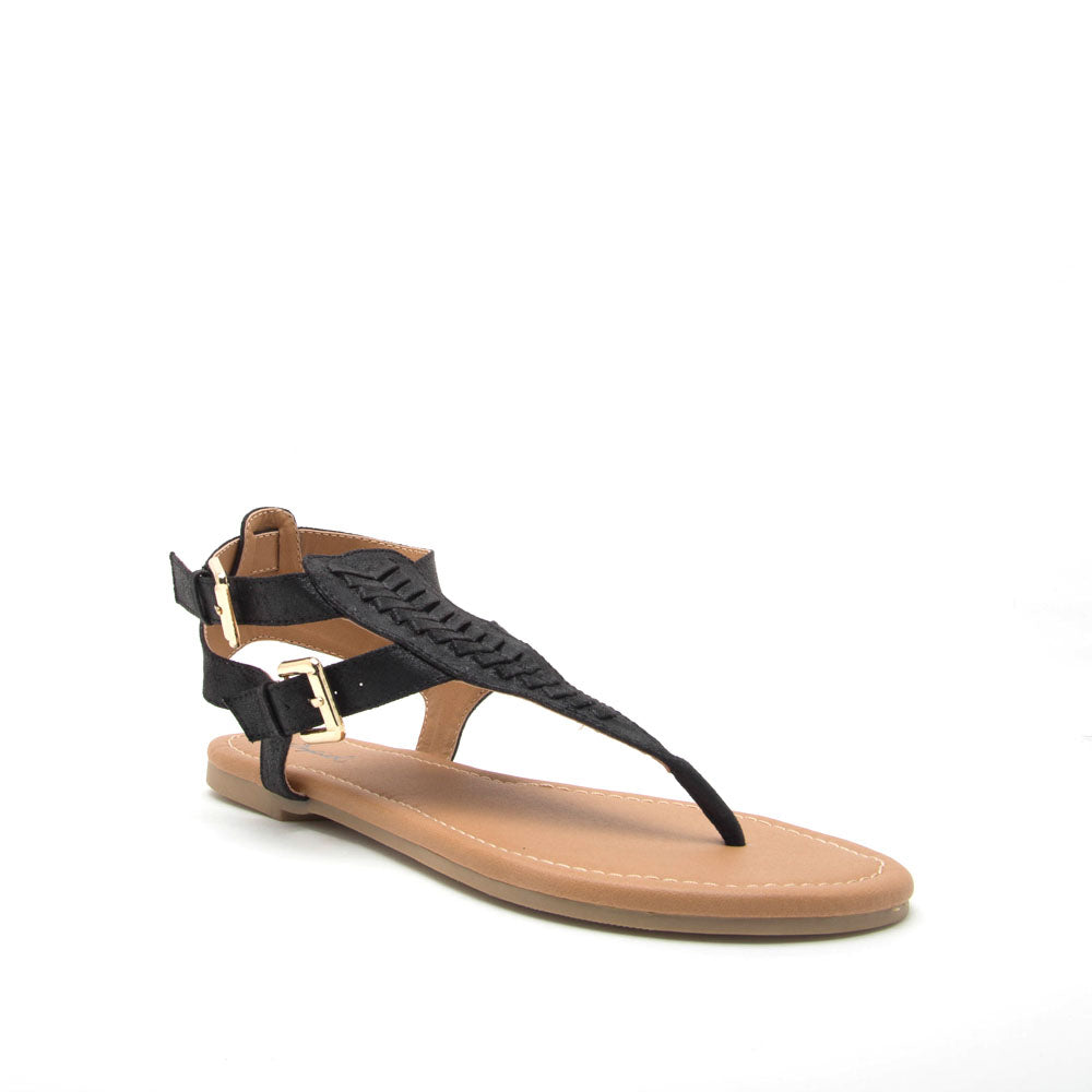 Archer-506 Black Gladiator Sandal