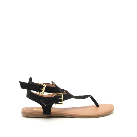 Archer-541 Black Gladiator Sandals