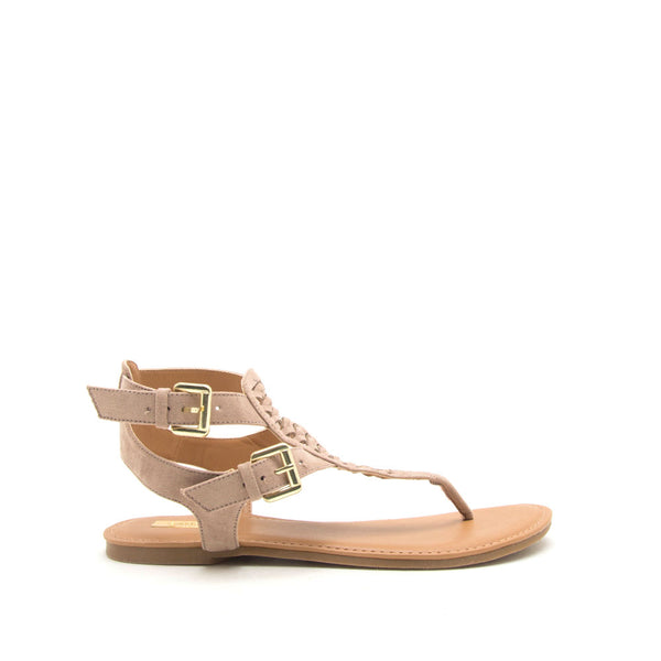 Archer-541 Taupe Gladiator Sandals