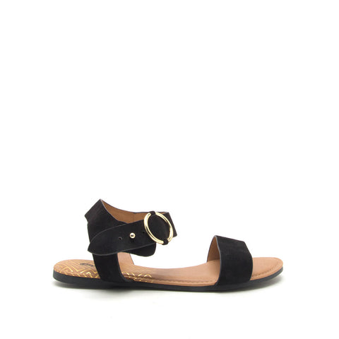 Archer-559X Black Ankle Strap Sandals