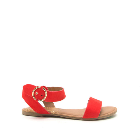 Archer-559X Blood Orange Ankle Strap Sandals