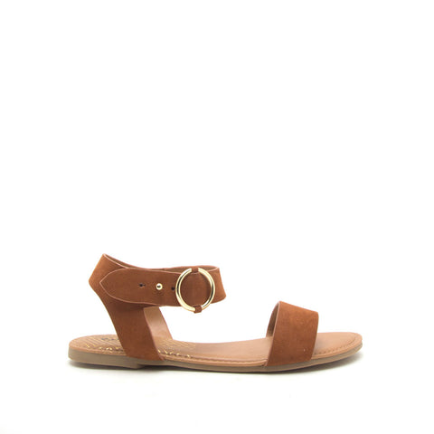 Archer-559X Chestnut Ankle Strap Sandals