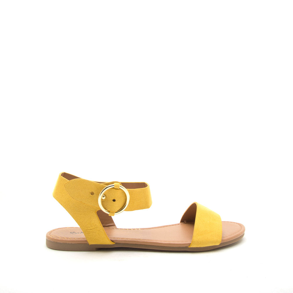 Archer-559X Yellow Ankle Strap Sandals