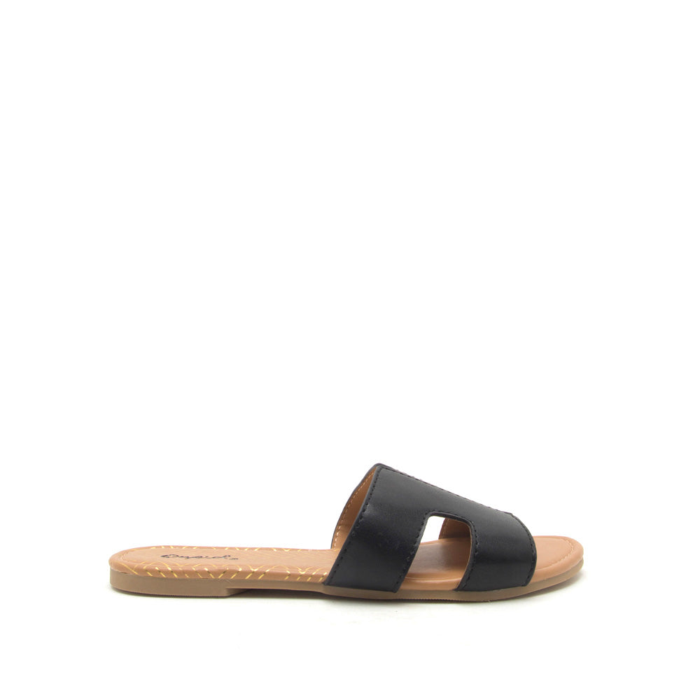 Archer-569X Black Slide In Sandals