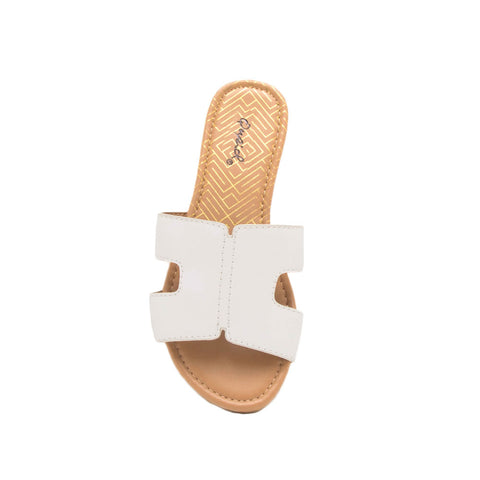 Archer-569X White Slide In Sandals