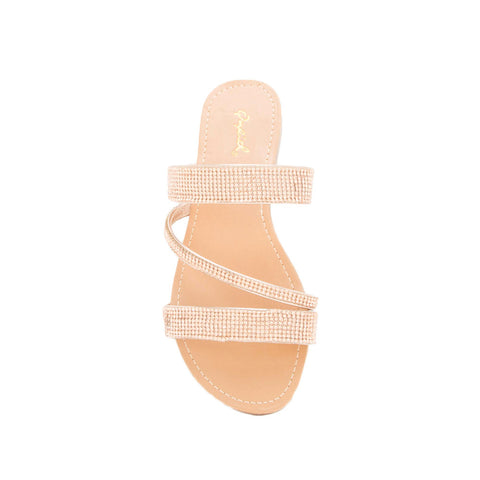 Archer-571 Rose Gold Metallic Embellished Sandals