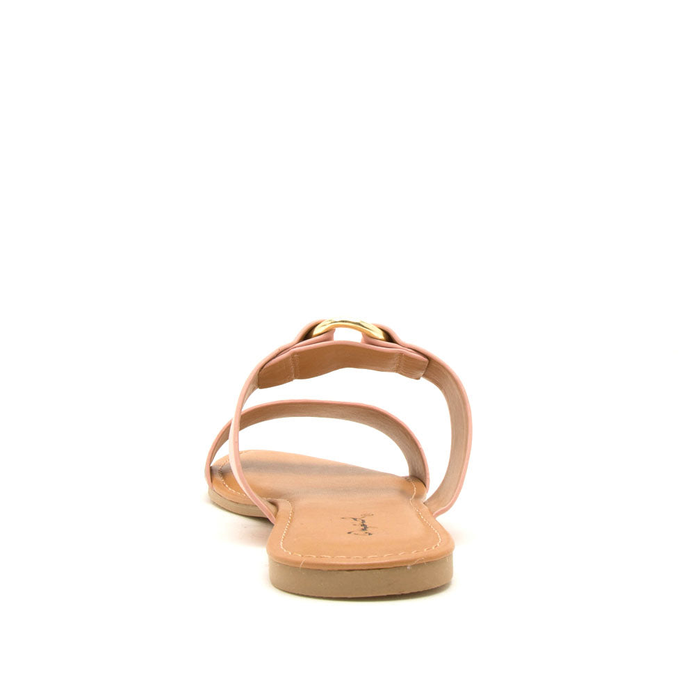 Archer-615X Beige Blush Snake Double Band Slides
