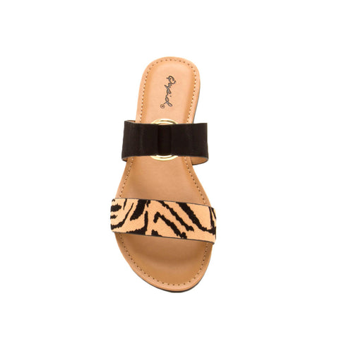 Archer-615X Tan Black Tiger Double Band Slides