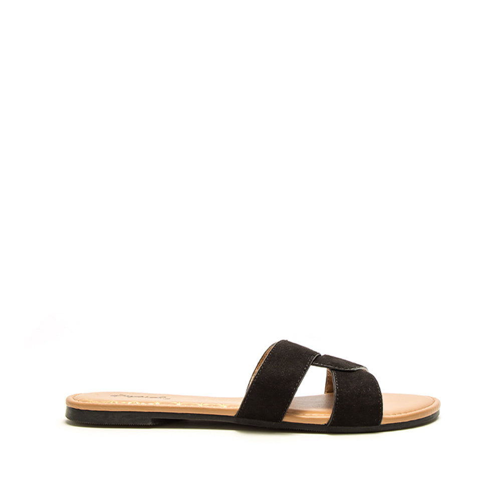 Archer-617X Black Single Band Sandals
