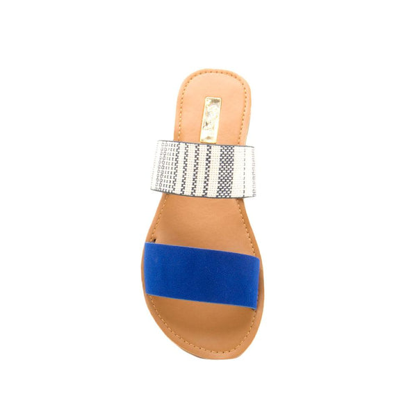Athena-1076AXX Cobalt Blue Two Bands Slide