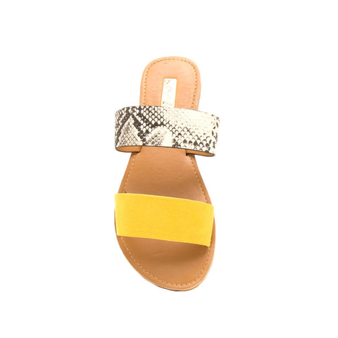 Athena-1076AXX Yellow Two Bands Slide