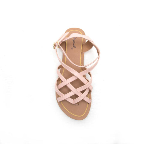 ATHENA-1091A Blush Strappy Gladiator Sandals