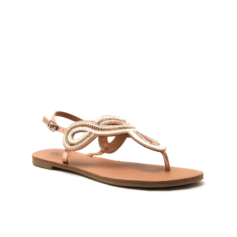 ATHENA-1118A Rose Gold Embellished Sandal
