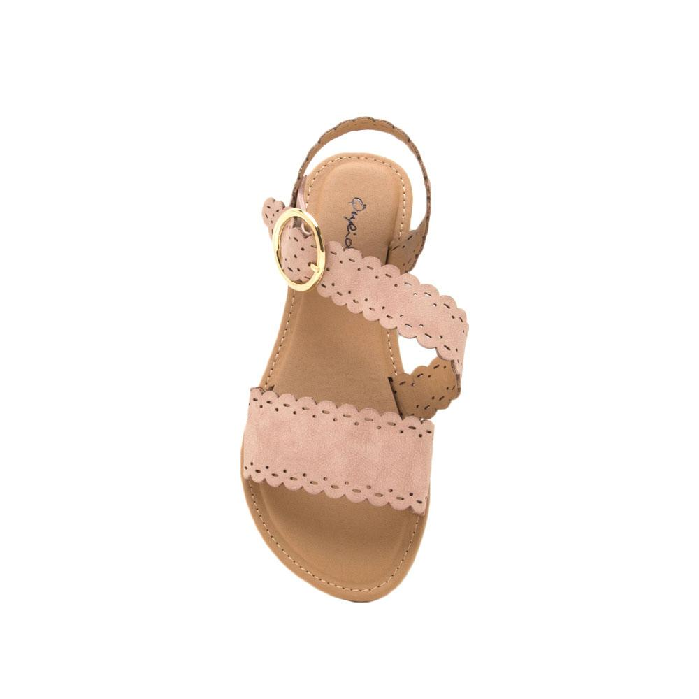 Athena-1286X Blush Perforated Sandal