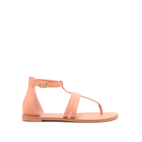 Athena-1374X Coral Strappy Gladiator Sandals